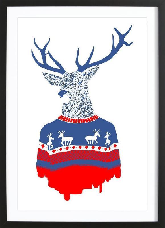 Ugly Winter Pullover Framed Print