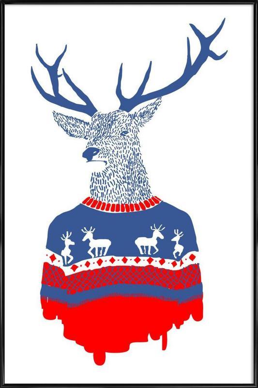 Ugly Winter Pullover Framed Poster