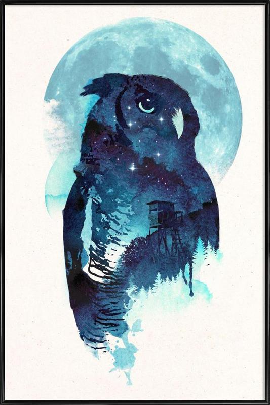 Midnight owl Framed Poster