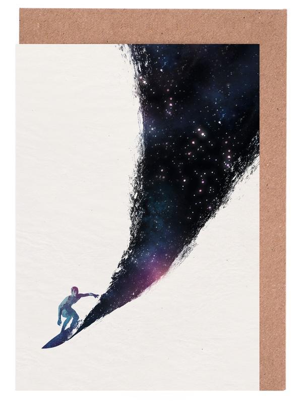 Surfen, Surfing the Universe -Grußkarten-Set