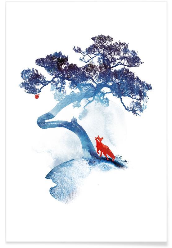 Renards, Art pour enfants, The Last Apple Tree affiche