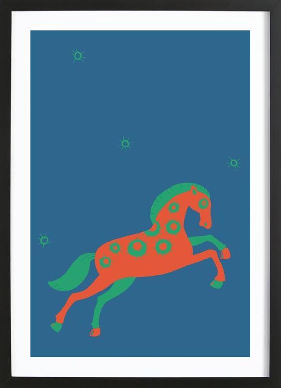 Polle blue Framed Print
