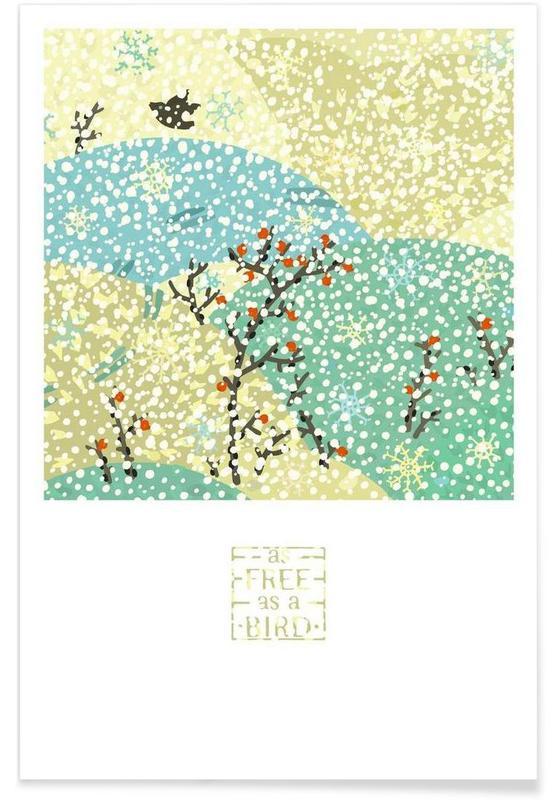 Art pour enfants, As free as a bird affiche