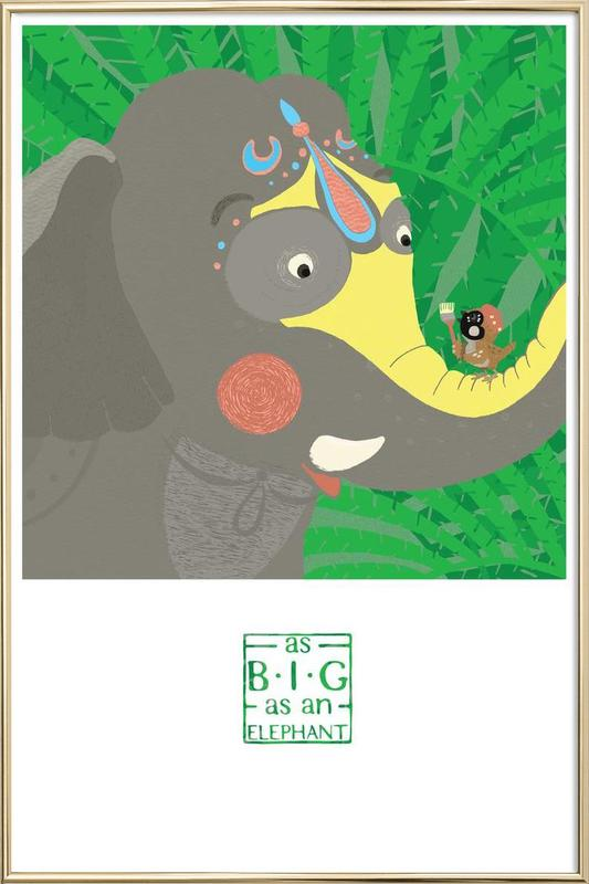 As big as an elephant Poster in Aluminium Frame