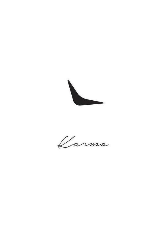 Karma -Leinwandbild