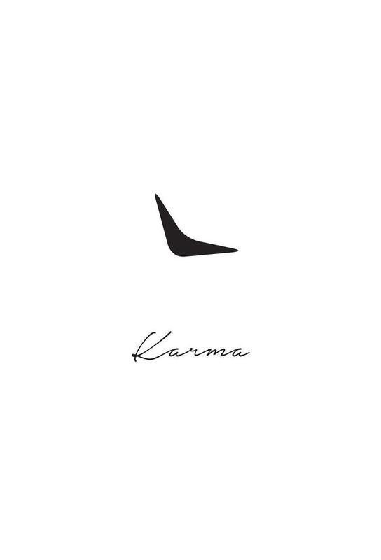 Karma -Acrylglasbild