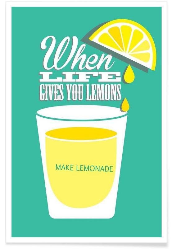Citrons, Motivation, Lemons affiche