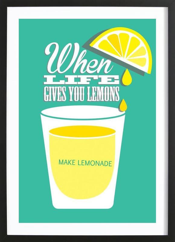 Lemons -Bild mit Holzrahmen