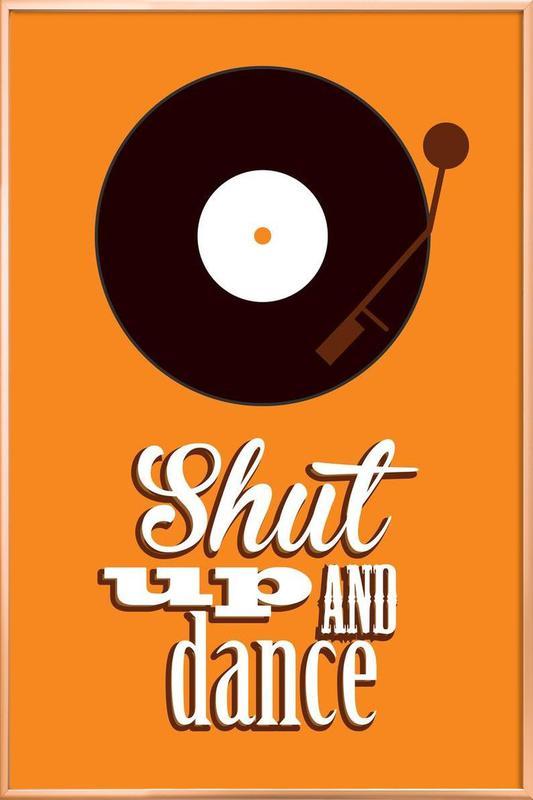 Shut Up poster in aluminium lijst