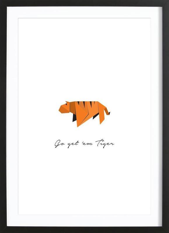 Tiger ingelijste print