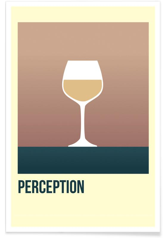 Wine, Perception White Poster