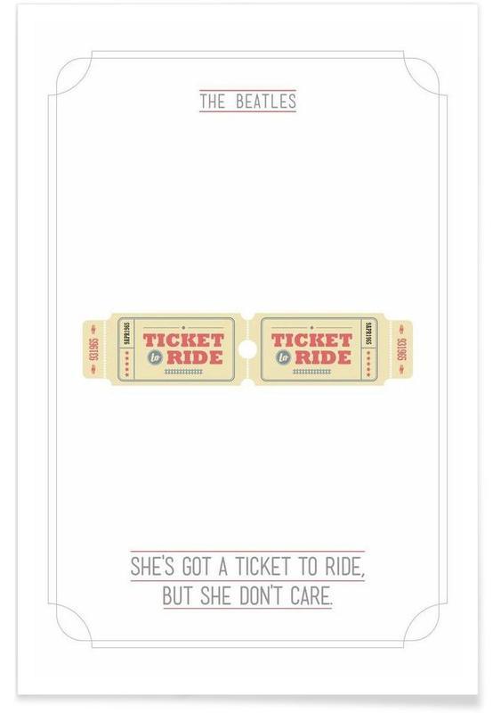 The Beatles, Paroles de chansons, She's Got a Ticket to Ride affiche