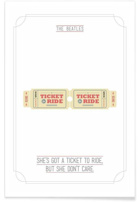 She's Got a Ticket to Ride Poster