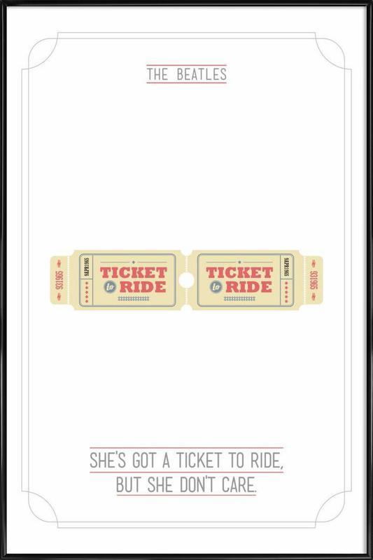 She's Got a Ticket to Ride affiche encadrée