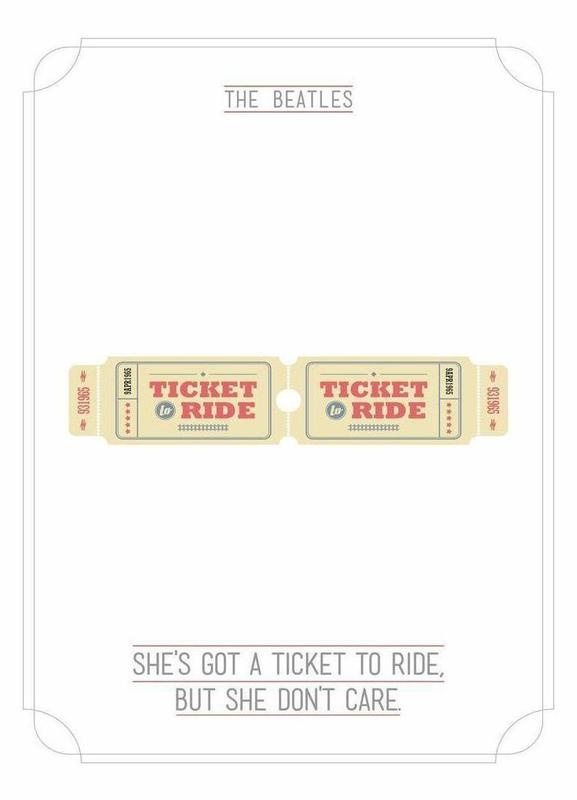She's Got a Ticket to Ride toile