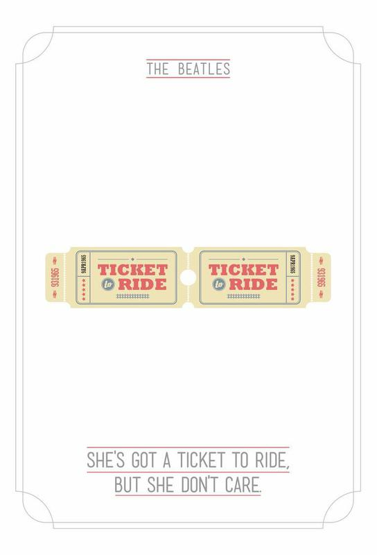 She's Got a Ticket to Ride Acrylic Print