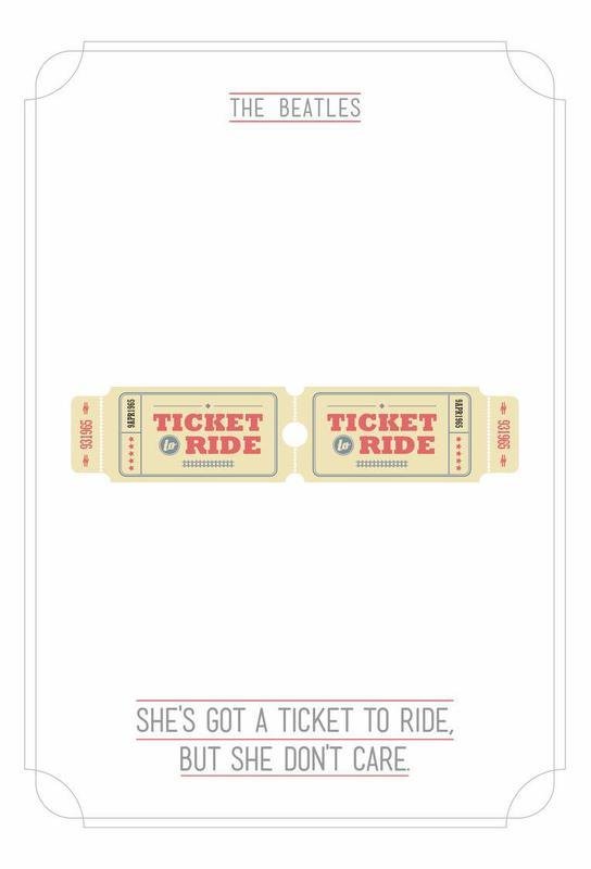 She's Got a Ticket to Ride alu dibond