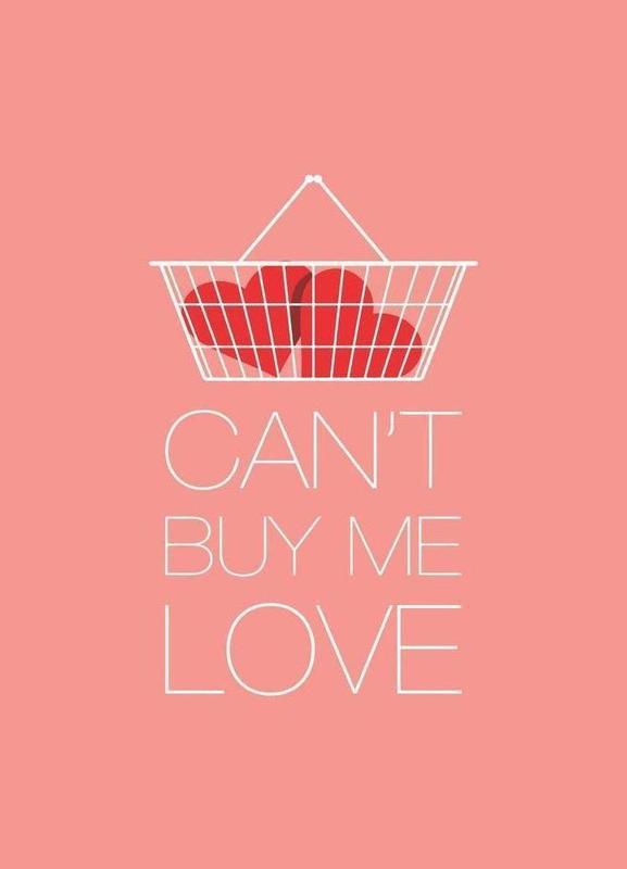 Can't Buy Me Love canvas doek