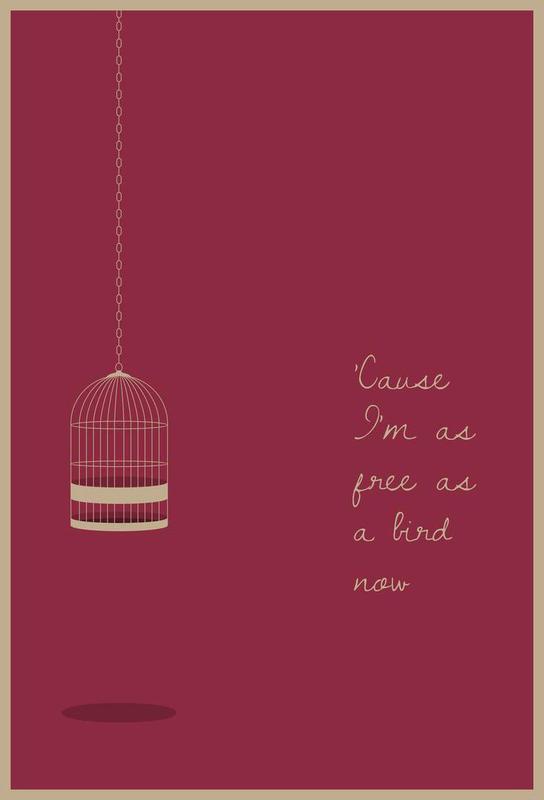 Free as a Bird Aluminium Print
