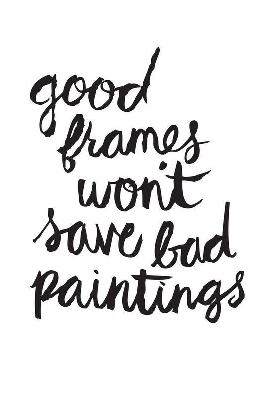 Bad Paintings acrylglas print