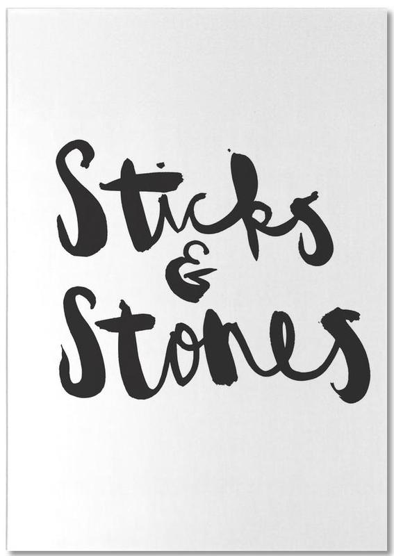 Sticks and Stones Notepad