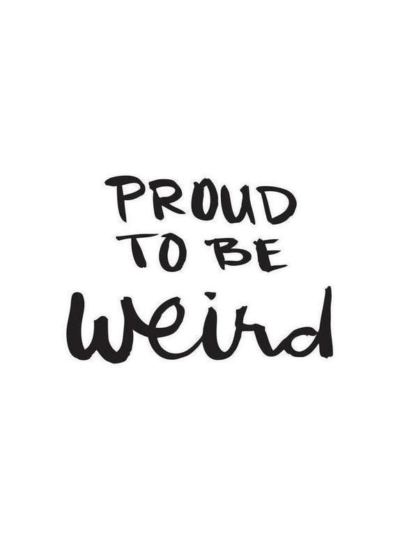 Proud to be weird Canvas Print