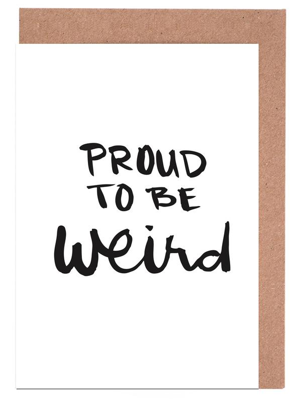 Proud to be weird Greeting Card Set