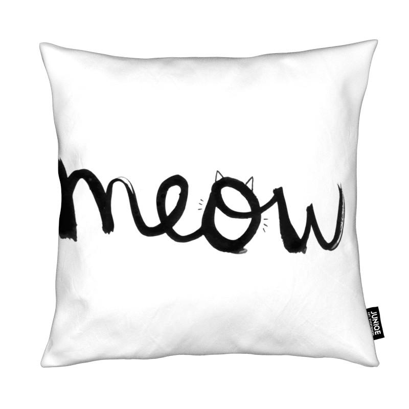 Schwarz & Weiß, Katzen, Zitate & Slogans, Meow