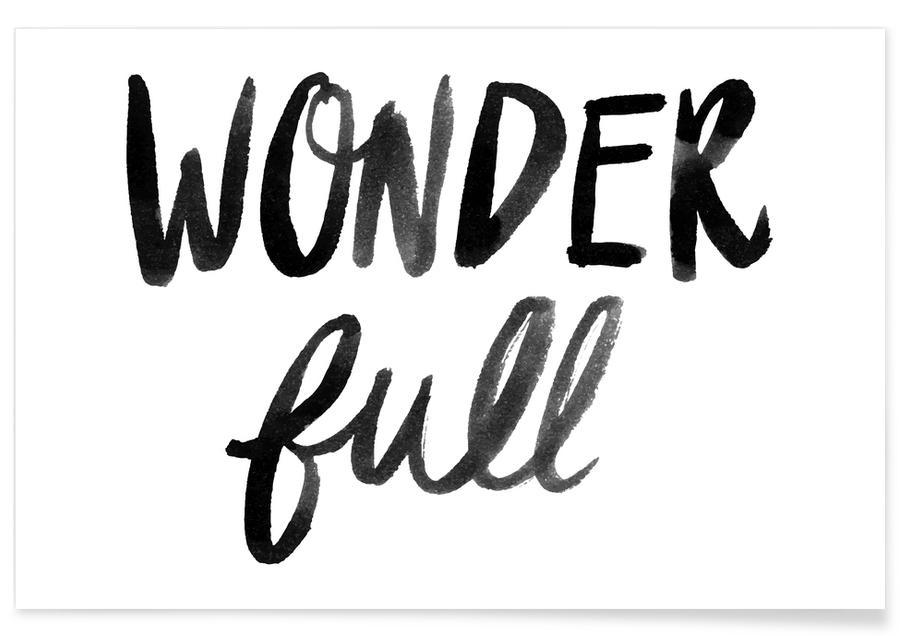 Zwart en wit, Liefdescitaten, Quotes en slogans, Jubileums en liefde, Valentijnsdag, Wonder Full poster