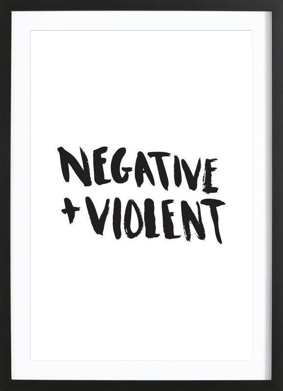 Negative + Violent ingelijste print