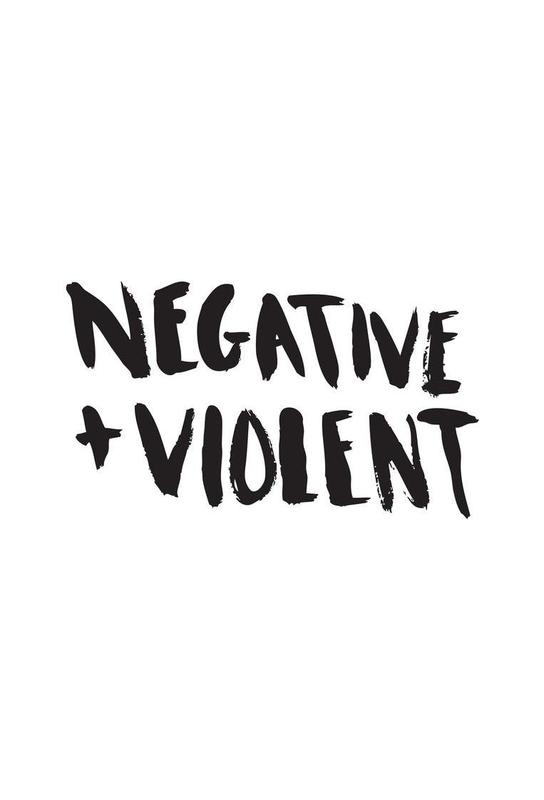 Negative + Violent acrylglas print