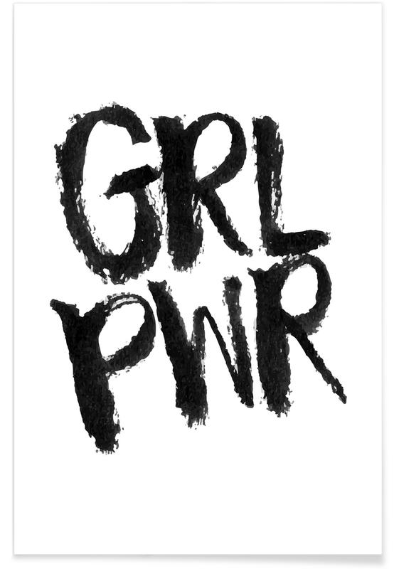 Congratulations, Motivational, Black & White, Quotes & Slogans, Grl Pwr Poster