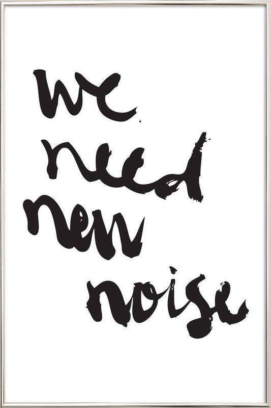 New Noise Poster in Aluminium Frame