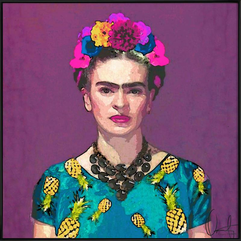Trendy Frida Kahlo -Bild mit Kunststoffrahmen