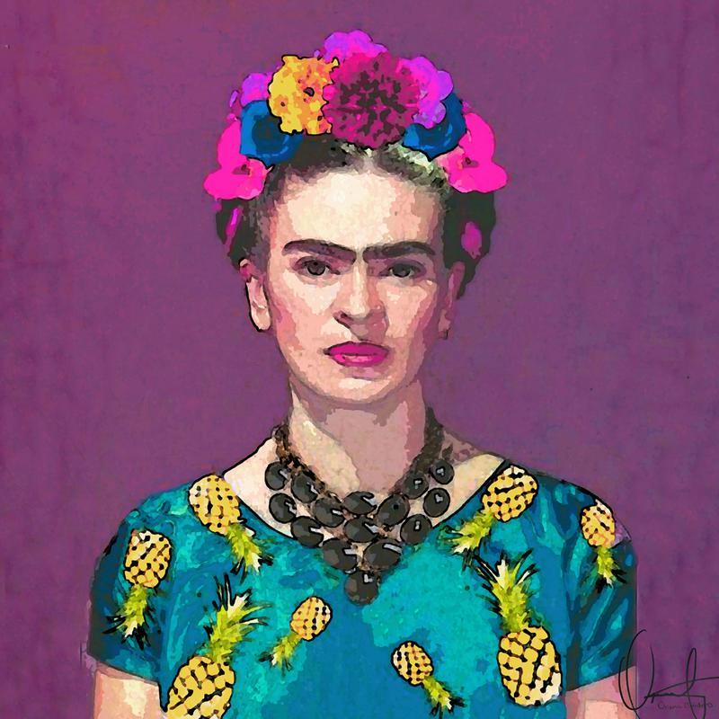 Trendy Frida Kahlo -Acrylglasbild