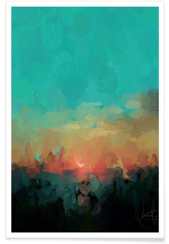 Paysages abstraits, Martinique affiche