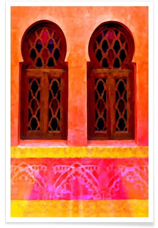 Détails architecturaux, Morocco affiche