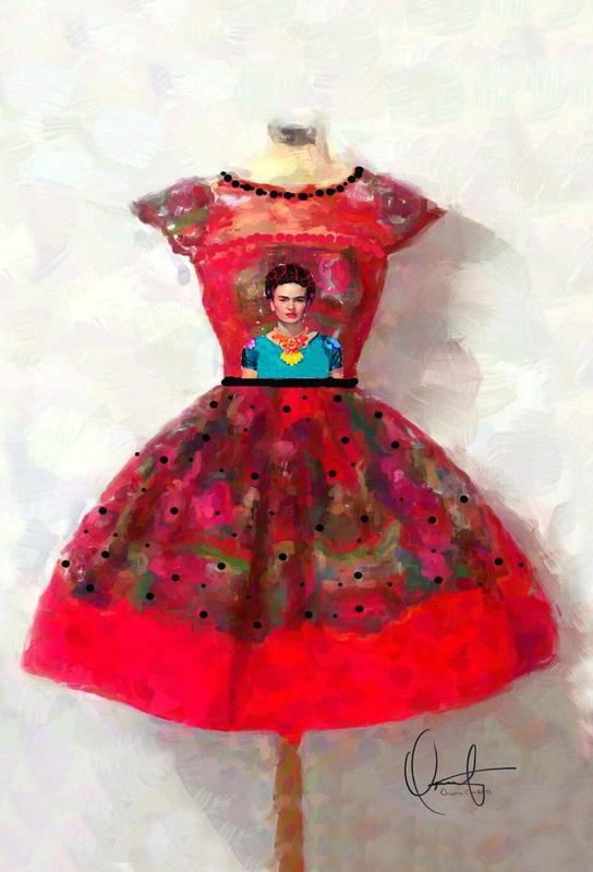 O'h So Frida Aluminium Print