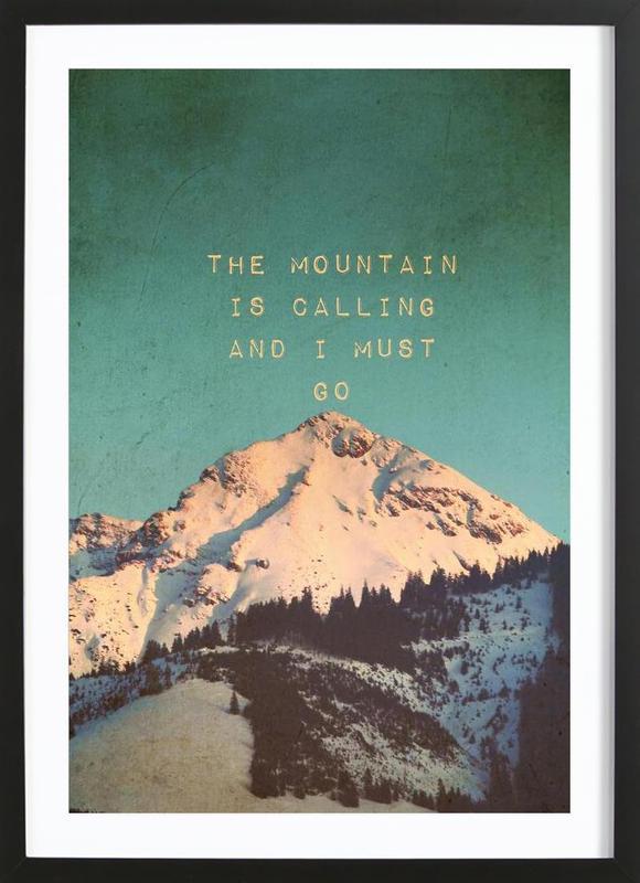Mountain Is Calling ingelijste print