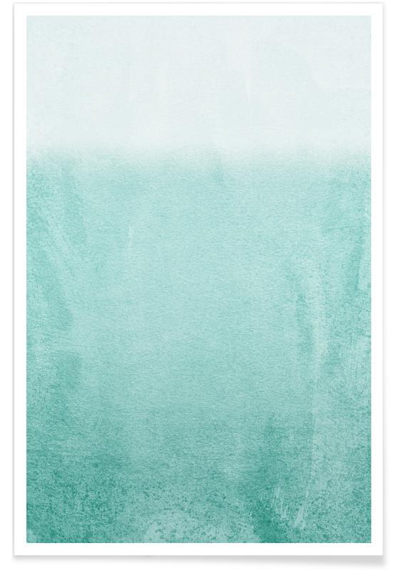 Fading Aqua Poster
