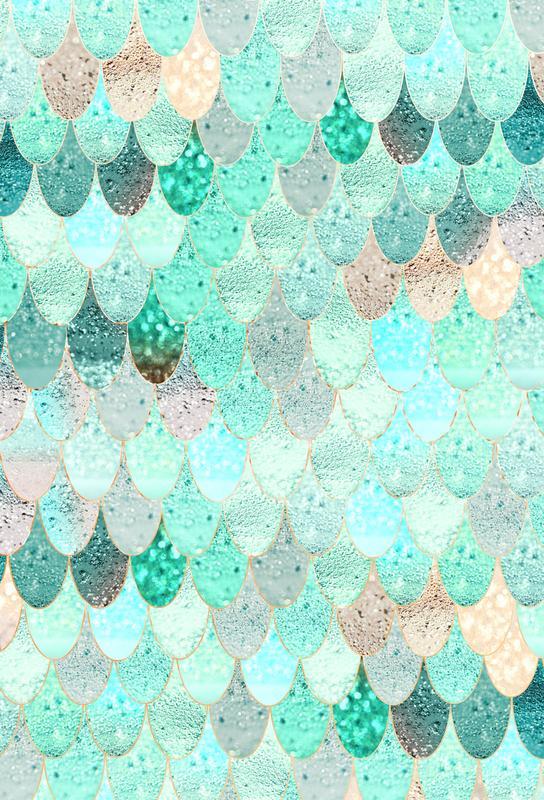 Mermaid Summer Aluminium Print