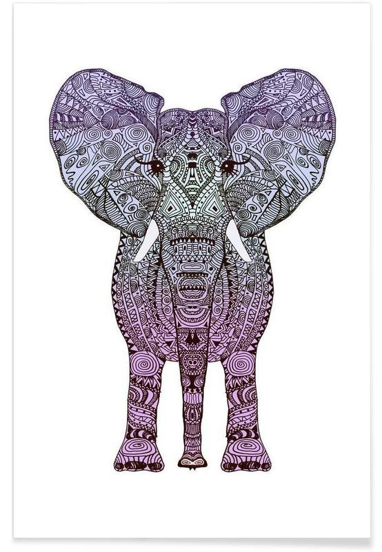 Purple Elephant -Poster