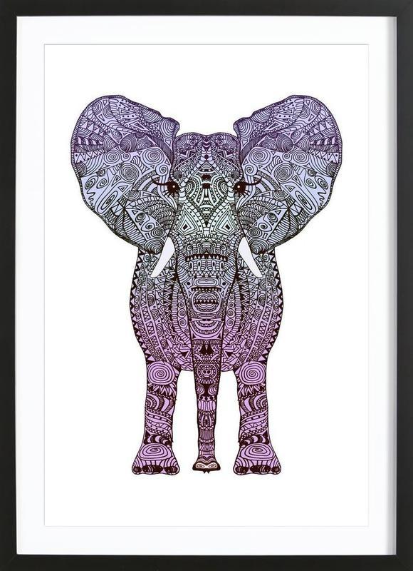 Purple Elephant ingelijste print
