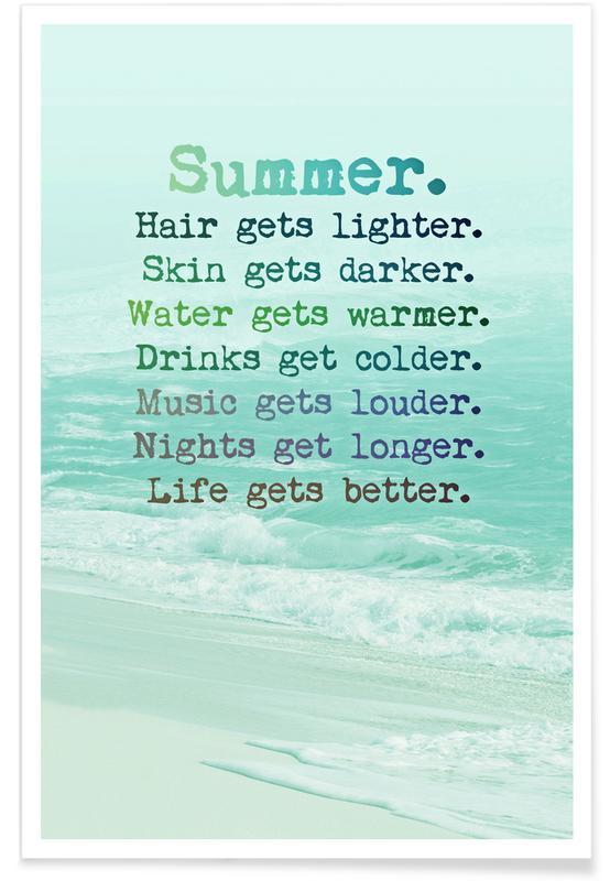 Motivation, Citations et slogans, Summer affiche