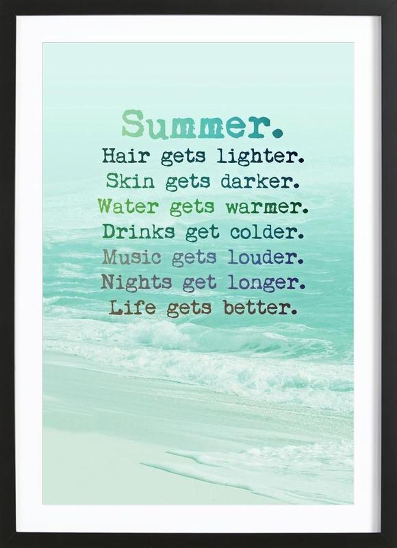 Summer -Bild mit Holzrahmen