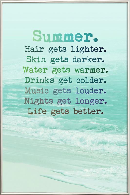 Summer Poster in Aluminium Frame