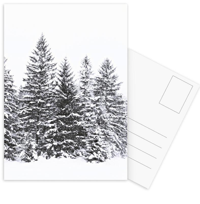 Black Wintertrees Postcard Set