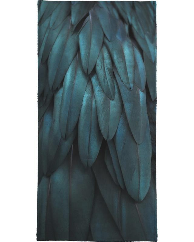 Dark Feathers Bath Towel