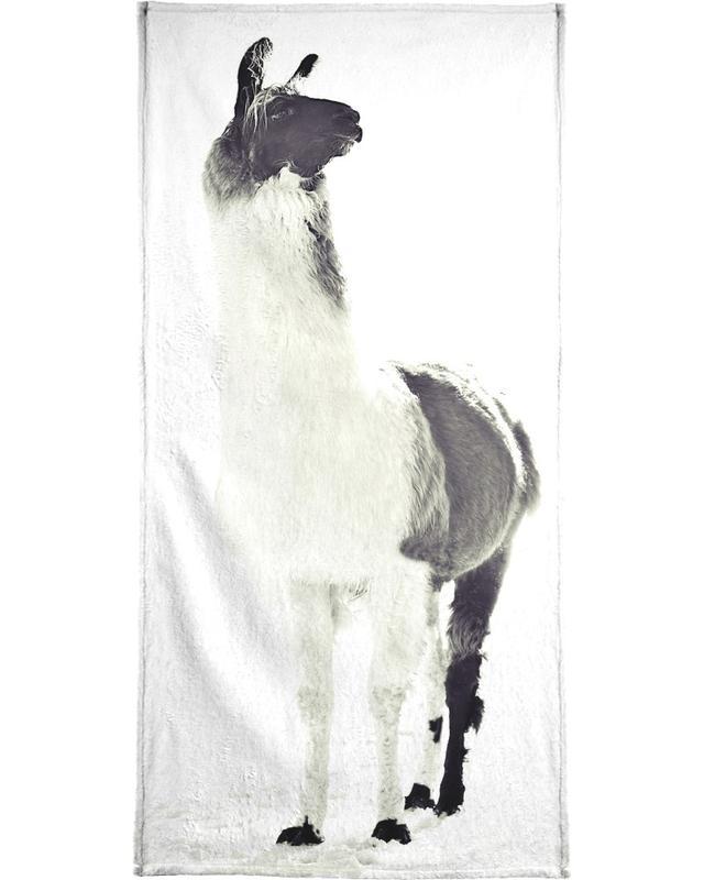 Fluffy Lama -Handtuch