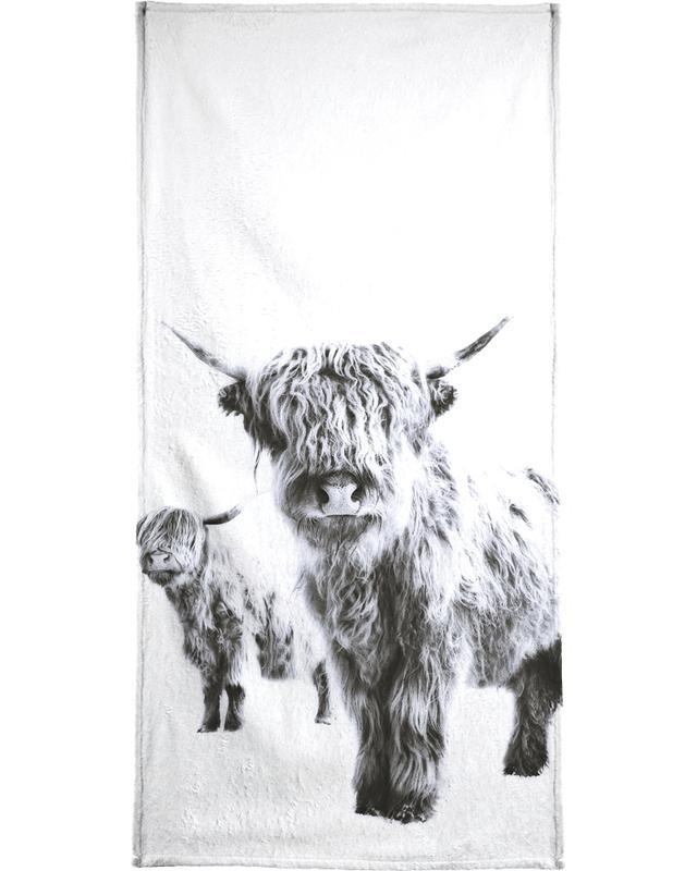 Highland Cows Beach Towel